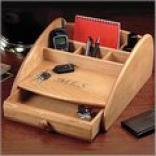 Engraved Wooden Dresser Valet