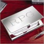 Executive Nickel-plated Card Holder
