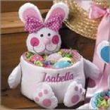 Fabric Bunny Basket - Pink