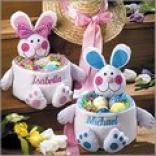 Fabric Bunny Easter Baskets
