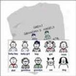 Family Character Icon Sweatshirts - 7-12 Icons