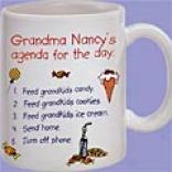 Grandma's Agenda Mug