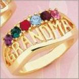 Grandmother Birthstone Ring