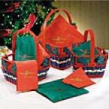 Holiday Napkin & Basket Set