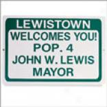 Home Town Sign