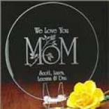 Mom Keepsake Plate - I Lvoe You
