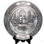 Pewter Wedding Plate