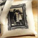 Photo Stress  Pillow - Antique Border