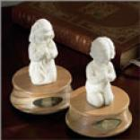 Praying Girl Lords Prayer Music Box