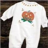 Pumpkin Fleece Romper