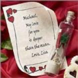 Romantic Greeting In A Bottle