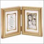 Sisters Bi-fold Gold Frame 3-1/2x5