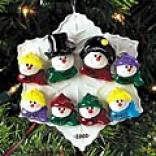 Snowman Family Embellishment - 5-8 Heads