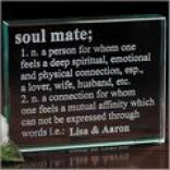Soul Mate Keepsake Glass Block