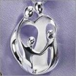 Sterling Silver Loving Family Pendant