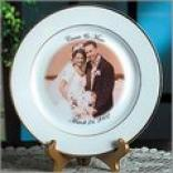 Wedding Photo Plate