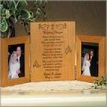 Wedding Prayer Tri-fold Frame