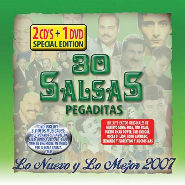30 Salsas Pegaditas: Lo Nevo Y Lo Mejor 2008 (2cd) (includes Dvd)