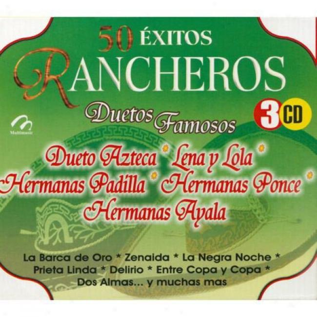 50 Extitos Rancheros: Duetos Famosos (3 Disc Box Sdt)