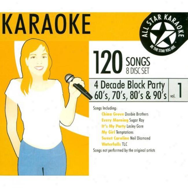 All Star Karaoke: 4 Decade Block Party, Vol.1 (8 Disc Box Set)