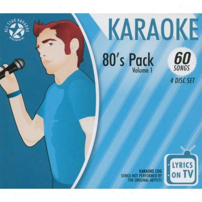 All Asterisk Karaoke: 80's Pack, Vol.1 (4 Disc Box Set)