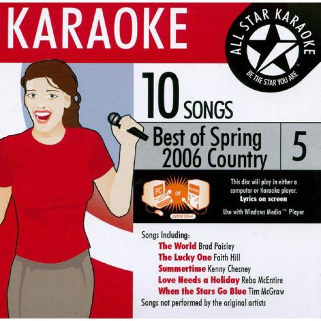 All Star Karaoke: Best Of Spring 2006 - Country, Vol.5