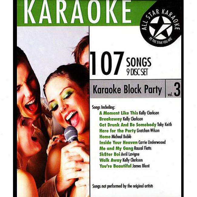 All Star Karaoke: Block Party, Vol.3 (9 Disc Box Set)