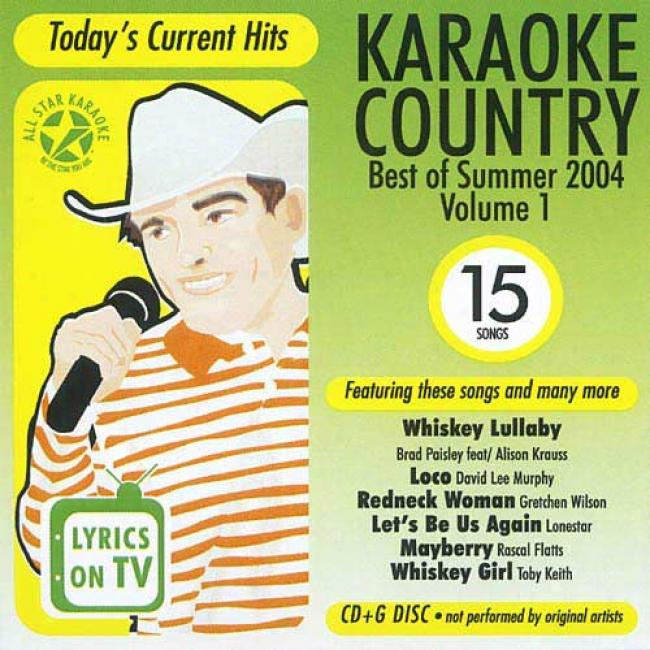 All Star Karaoke: Country Best Of Summer 2004, Vol.1