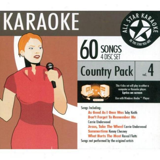 All Star Karaoke: Country Pack, Vol.4 (4 Disc Box Set)