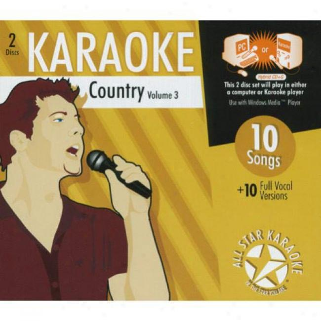 All Star Karaoke: Country, Vol.3 (2cd) (cd Slipcase)