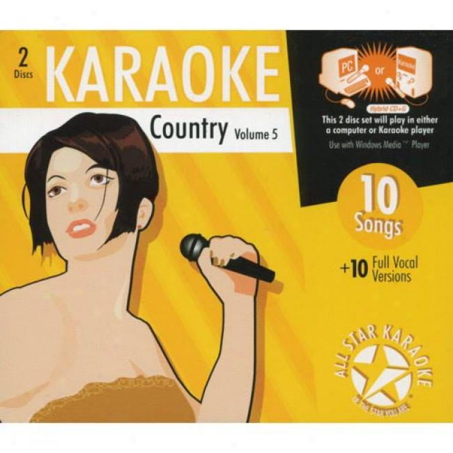 All Star Karaoke: Country, Vol.5 (2cd) (cd Slipcase)
