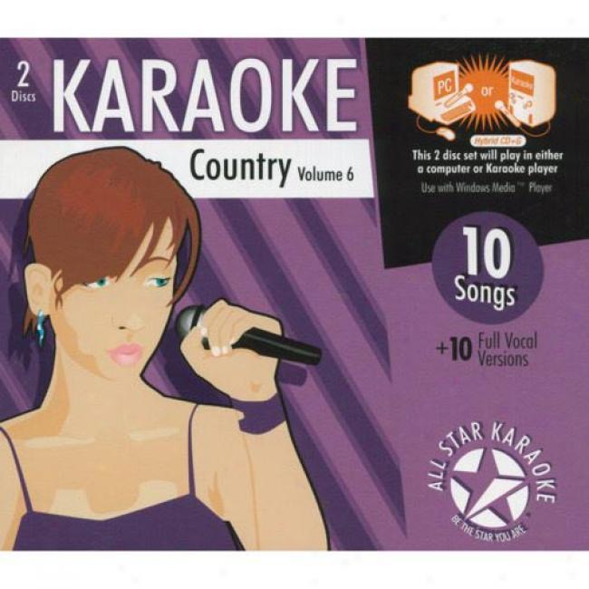 All Star Karaoke: Country, Vol.6 (2cd) (cd Slipcase)