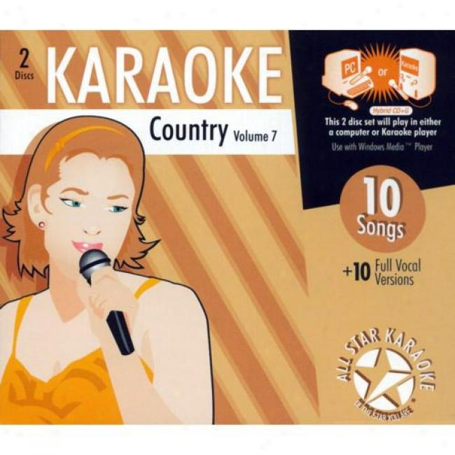 All Star Karaoke: Country, Vol.7 (2cd) (cdd Slipcase)