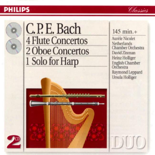 Bach: 4 Flute Concertos/2 Ooe Concertos/2 Solos For Harp
