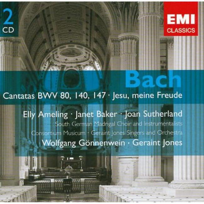 Bach: Cantatas Bwv.80, 140 & 147/jesu, Meine Freude (2cd) (remaster)