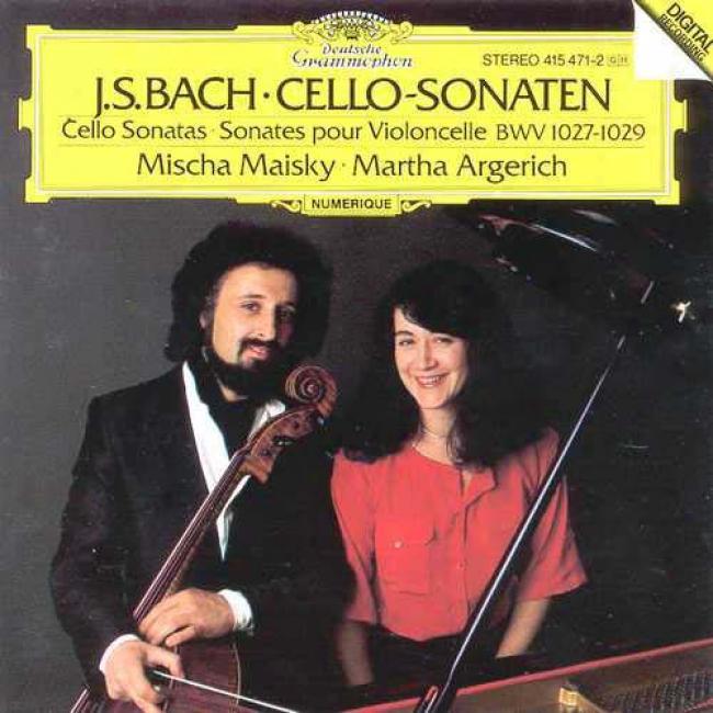 Bach: Cello Sonatas - Sonates Pour Violoncelle Bwv 1027-1029