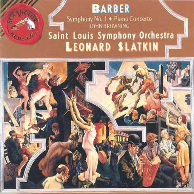 Barber: Symphony No.1 Piano/concerto/souvenirs