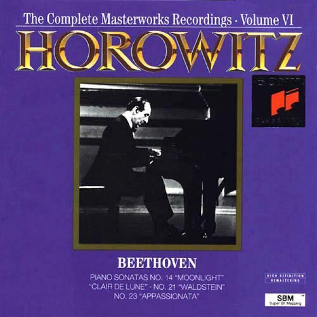 Beethoven: Piano Sonatas Nos.14 Moonlight, 21 Waldstein & 23 Appassionata