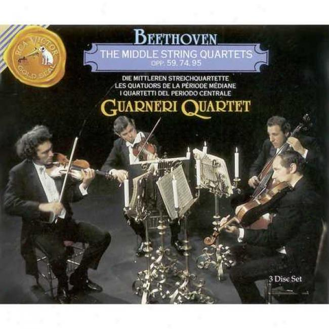 Beethoven:-The Middle String Quartets Opp.59,74,95