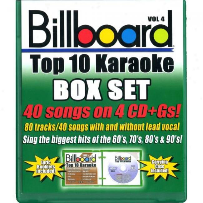 Billb0ard Top 10 Karaoke, Vol.4 (4 Disc Box Set)