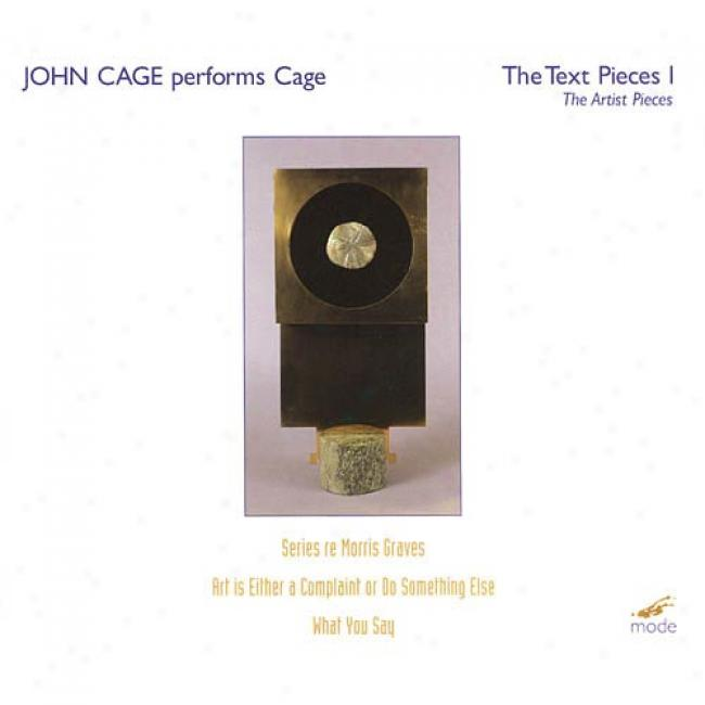 Cage Performs Cage: Tge Text Pieces I - The Artist Pieces (2cd) (cd Slipcase)