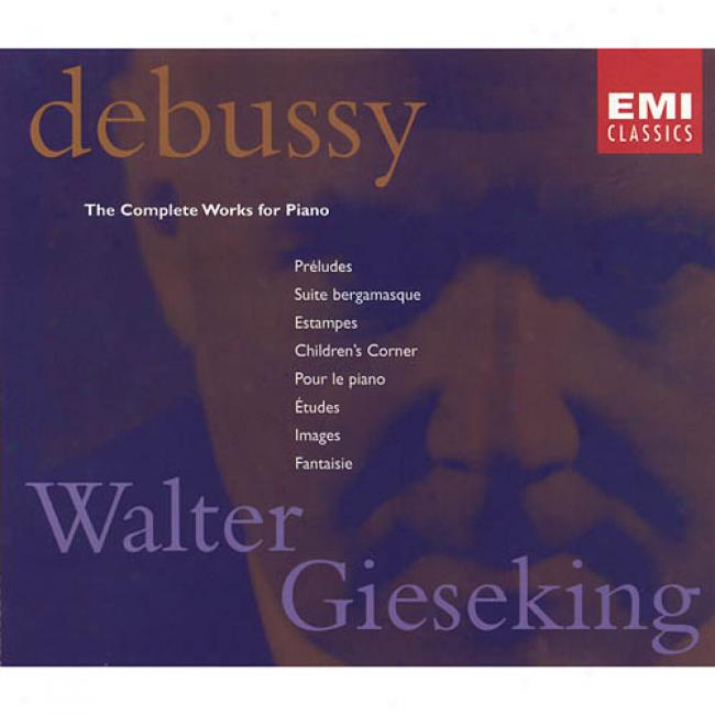 Debussy: The Complete Works For Piano (4cd) (remaster)