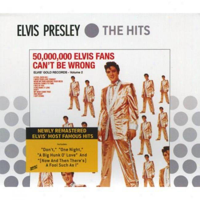Elvis' Gold Records, Vol.2: 50,000,000 Elvis Fans Can't Be Wrong (Through  5 Exclusive Video Downloads) (cd Sllipcase) (rejaster)