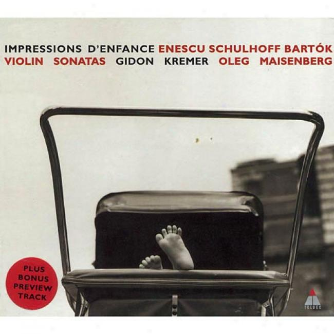 Enescu/schulhoff/bartok: Sonatas For Violin And Piano