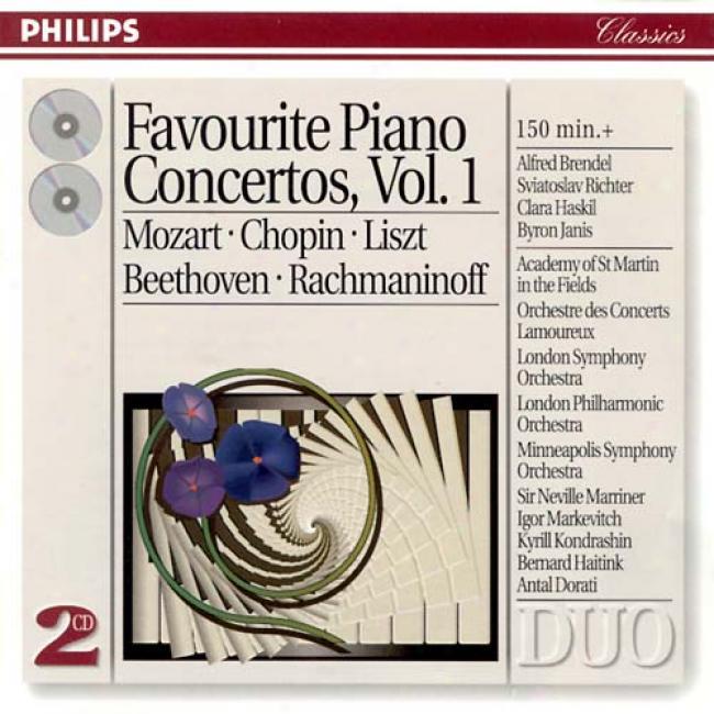 Favourite Piano Concertos, Vol.1: Mozart - Chopin - Liszt - Beethoven - Rachmaninoff