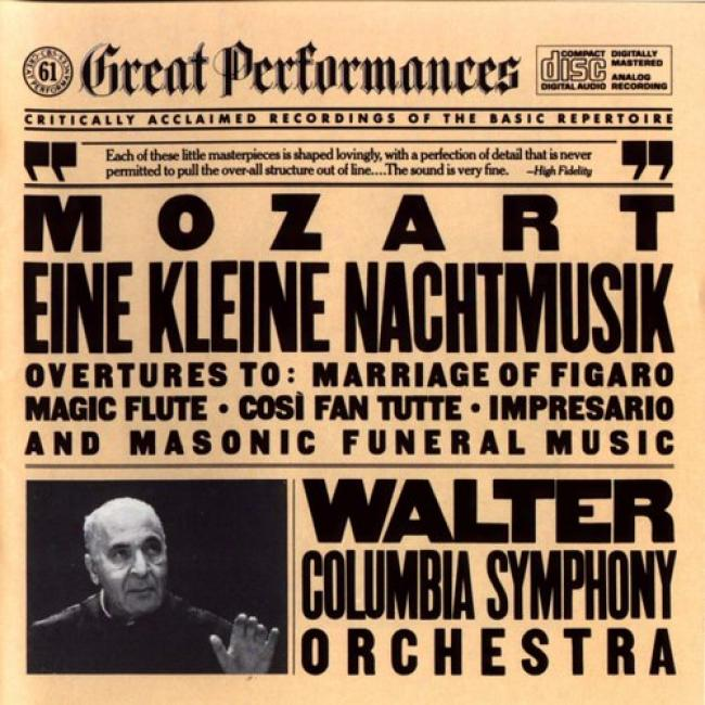 Great Performances: Mozart - Nachtmusik/masonic Funeral/ovt