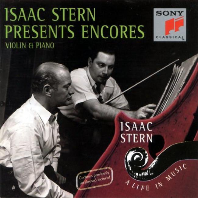 Isaac Stern -a Life nI Music - Encores During Violin And Piano