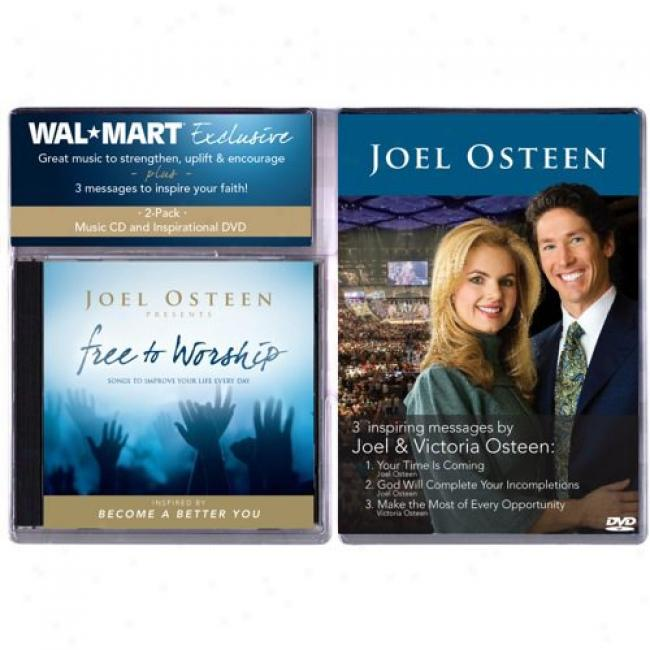 Joel Osteen Presents: Free To Worship (with Exclusive Bonus Dvd)