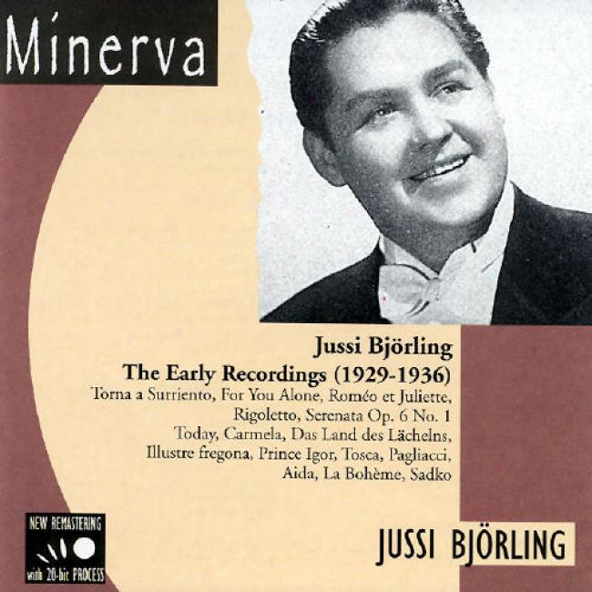 Jussi Bjorling: The Early Recordings (1829-1936)