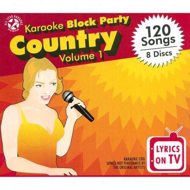 Karaoke Blpck Party: Country, Vol.1 (8 Disc Box Set)